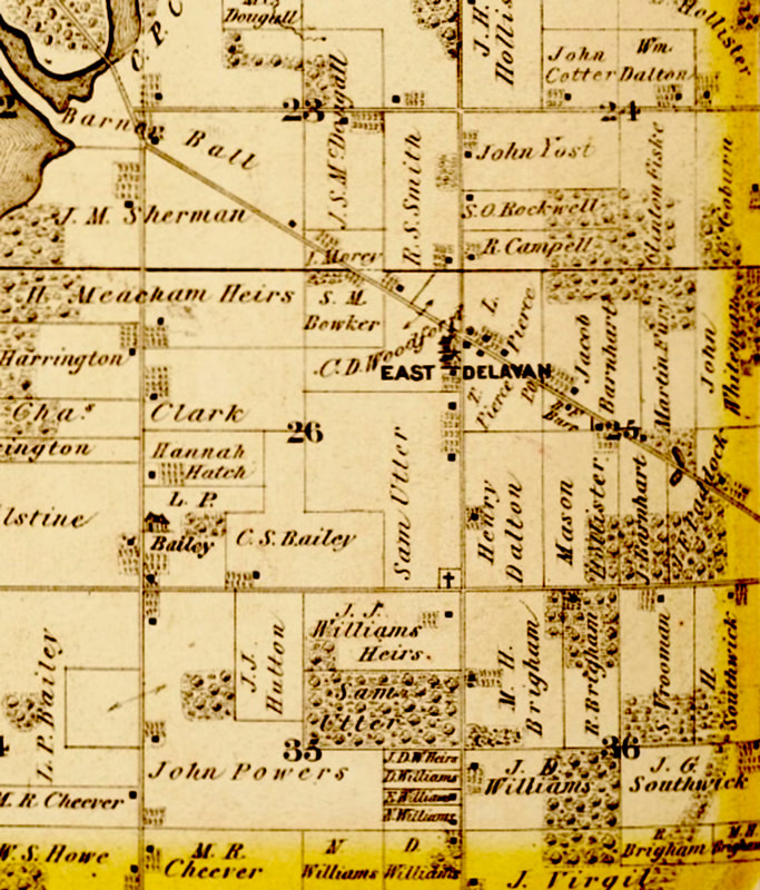 Plat map featuring East Delavan
