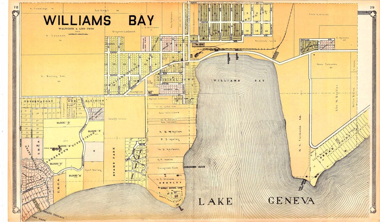 1907 map of Williams Bay